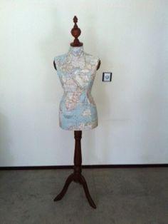 Mannequin with landmap, by Nienke..