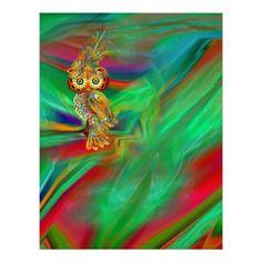 Tropical Fashion Queen Owl Letterhead