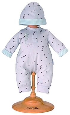 "Corolle 14"" Grey Star Baby Doll Pajamas and Cap -- To view further for this item, visit the image link."