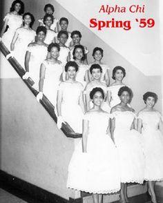 #TBT - Alpha Chi Chapter of Delta Sigma Theta Sorority, Inc. c. 1959. #indacy #DST #1913 #NPHC #DeltaSigmaTheta #Sorors #Sisterhood