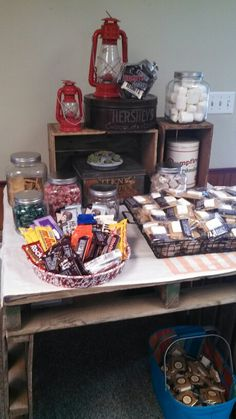 S'mores bar for camping party