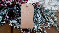Reindeer Embossed Christmas Gift Tags  Set by PurplePirateStudios
