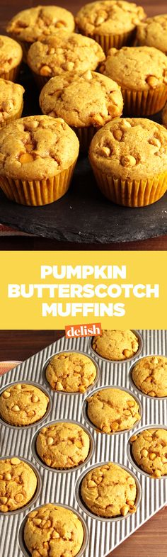 These Pumpkin Butterscotch Muffins might sound basic, but they taste incredible. Get the recipe on Delish.com.