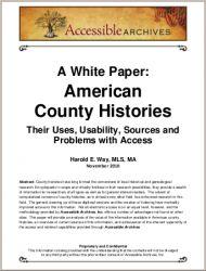 A White Paper: American County Histories. Glimrende ressurs for de som har norsk-amerikanere i slekten