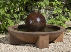 Free Shipping and No Sales Tax on the Low Zen Sphere Garden Water Fountain from the Outdoor Fountain Pros.
