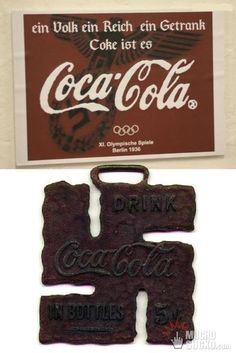 """Coca Cola, Proud Sponsors Of The 1936 """"NAZI"""" Olympic Games (omg surely not)"""