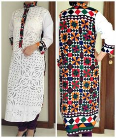 Rilli Kurtas Trends 2014 For Women: Rilli is Pakistani Sindhi fabric art Beauty And Fashion, Asian Fashion, Fashion Tips, Pakistani Outfits, Indian Outfits, Simple Dresses, Summer Dresses, Beautiful Dresses, Pakistan Fashion