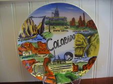 CENTENNIAL STATE! Vintage Wales Japan Hand Painted Colorado State Plate