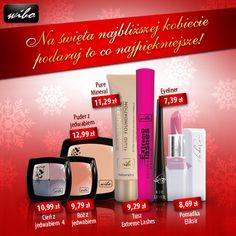 W proponowanym zestawie znajdują się produkty do makijażu marki WIBO:    - Cień do powiek z jedwabiem 4  - Róż z jedwabiem  - Puder z jedwabiem  - Fluid Pure Mineral  - Tusz do rzęs Extreme Lashes  - Eyeliner czarny WIBO  - Pomadka Eliksir  Więcej informacji o produktach na naszej stronie: www.wibo.pl