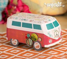 Surf Shack SVG Kit - love the camper! Campervan Gifts, Red Truck Decor, Silhouette Cutter, Silhouette Cameo, Boxed Christmas Cards, Origami And Kirigami, Surf Shack, Cricut Cards, Diy For Teens