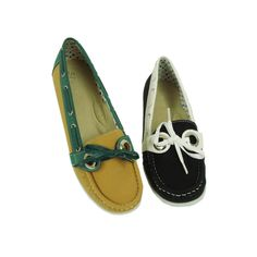 Spicy Women's Decorative Lace-up Moccasin Boat Shoes (F691)
