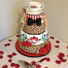 eeeeeeeeepppppppppppp tattoo leopard tier bow yea cup rose cake, punk rock wedding cake or birthday cake
