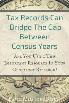 Using tax records in your genealogy research can help you learn about your ancestry by bridging information gaps between census years and adding more detail to your family tree. #freegenealogy #familyhistory #genealogyresearch #ancestry