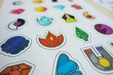 merryprintables: Pokemon Badge Case Printables