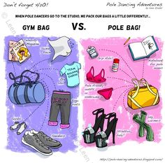 """When I yell to my husband that I'm off to work-out, I smile every time when I look inside my """"gym-bag."""" Exercising is exciting when you've got a pair of heels a"""