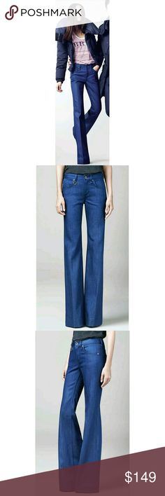 """BURBERRY BRIT Bethnal boho hippie flare jeans Burberry Brit jeans  Excellent pre-owned condition Style: Bethnal Size: 31 R 99% Cotton 1% Elastane Wash: medium flare 5 pocket zip & single button closure tonal stitching  Approx Measurements (laying flat unstretched) Full Length 43"""" Inseam 33"""" Rise 9.75"""" Waist 16"""" Hips 20.25"""" Leg opening 11.75"""" Burberry Jeans Flare & Wide Leg"""
