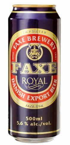 O Colecionador de Latas: Cerveja Faxe Royal - Dinamarca