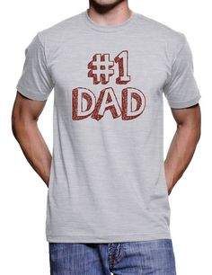 Number One Dad Father's Day T Shirt - American Apparel Tshirt - S M L XL 2X $20.00 USD