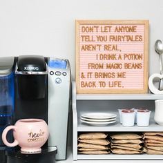 10x10 Light Pink Felt Letter Board with Bronze Letters. Felt Letter Board Ideas. Felt Letter Board and Letters from Felt Like Sharing. afflink #feltletterboard #feltlikesharing #feltletterboardideas #homedecor #quote #coffee #funny #letterboard