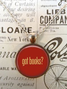 Book Necklace, Got Books, Literacy Necklace, Library, Librarian T593