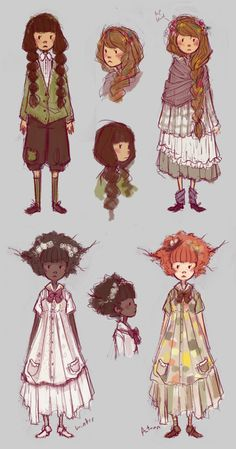 """""""missus-ruin:    More commission footwork doodles. Some mori girls."""""""