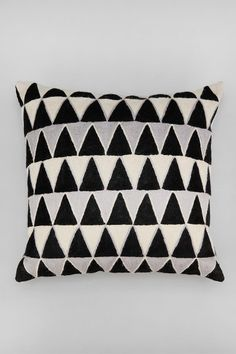 $44 Magical Thinking Embroidered Triangle Pillow