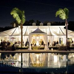 Outdoor Tent Reception - separate tent for cake!