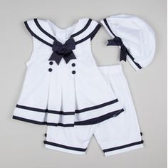 Baby-Nautical Top Capri & Hat Set - Not for real, just for fun or a photoshoot