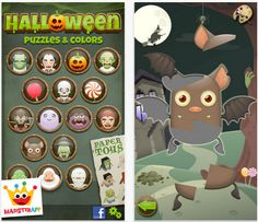 Halloween apps: Halloween Coloring Puzzle for puzzling and coloring fun