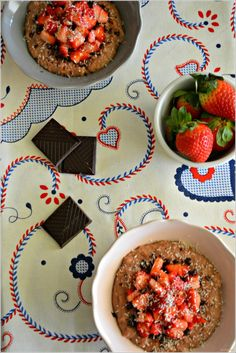 Sweet my Kitchen: Papas de aveia e morangos