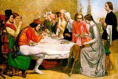 Giovanni Boccaccio - Page from Decameron. John Everett Milais.