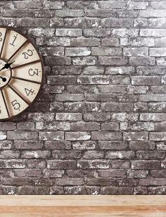 Grey brick wallpaper from Next