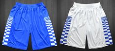 NCAA+March+Madness+College+Team+Kentucky+Basketball+Gym+Shorts+Blue+White+Wall+Fox+Checkered