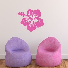 Hibiscus Hawaiian Flower Vinyl Wall Decal 22445