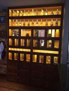 Solid jarrah whiskey cabinet with Tas Oak internals. Auld Design