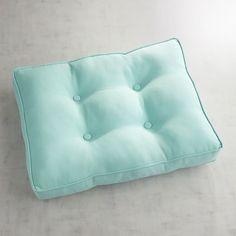 Ottoman Cushion In Cabana Aqua Turquoise