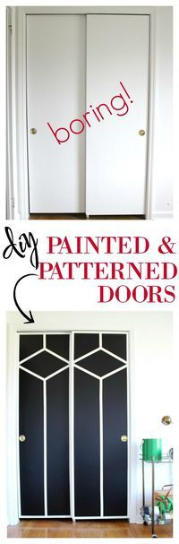 Sliding Closet Doors Makeover | Painted Closet Door Ideas | Painted Doors Ideas | Interior Door Ideas | Interior Doors Painted