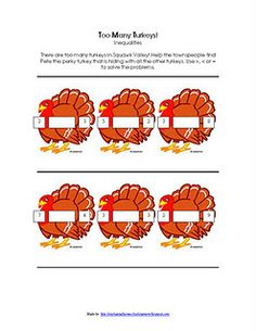 Plump and Perky Turkey Activity Unit