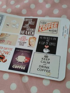 Coffee Shop Quote Stickers for Erin by BeyondthePaperFlower