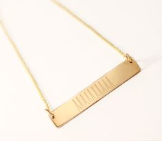 Personalized Gold Bar with your ACTUAL HEARTBEAT from Everly Design App. Easy to create and Free to Download In A Heartbeat, App Design, Arrow Necklace, Jewelry Design, Necklaces, Bar, Create, Gold, Collar Necklace