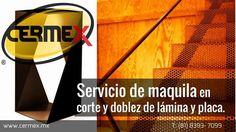 En CERMEX contamos con el servicio de maquila en el corte y doblez para que todos tus proyectos los transformes y los hagas realidad utilizando los equipos con la más alta calidad y la precisión que necesitas. Llámanos y te haremos una cotización sin compromiso. www.cermex.mx Teléfono: (81) 8393-7099