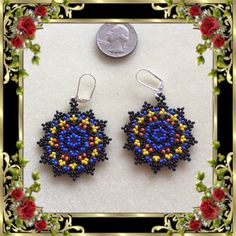 Beaded Mandala Earrings  Love Potion by Bead4Fun on Etsy