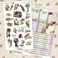 Victorian Times Planner Stickers