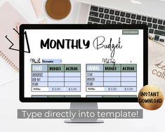 Do your personal finances feel out of control? If you want to save money every month, invest for your future, pay off debt, and get on a plan, you need a budget! This household budget planner will help you break down your monthly income and allocate every single dollar to a purpose. This is a customizable budget template that you can type directly into! Instant download PDF template. #budgetplanner #budgettemplate #monthlybudget #budgeting #editabletemplate