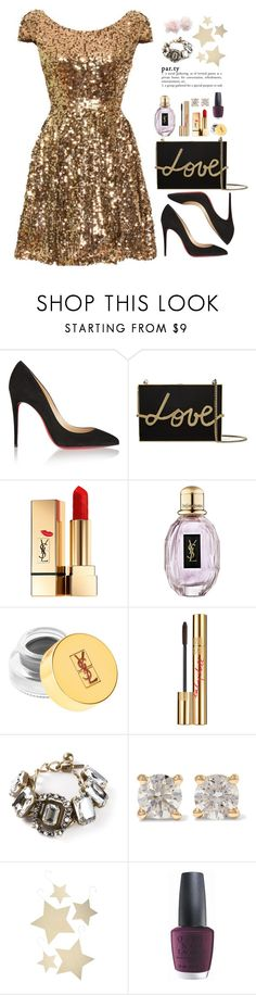 """""""Untitled #390"""" by pinkandgoldsparkles ❤ liked on Polyvore featuring Christian Louboutin, Lanvin, Yves Saint Laurent, Anita Ko, Bethany Lowe and OPI"""