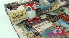 0,5mtr GOBELIN Stoff LONDON Style für Deko Taschen R26