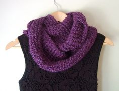 Chunky Infinity Scarf by DottieQ on Etsy
