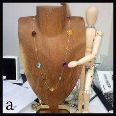 #BFF. #jewelry is #art. #lol. #multi #colored #briolette #cut #gemstone #necklace. #100 #percent #solid #14k #gold. #large #gems. #statement. #affordable #luxury.  http://stores.ebay.com/amazinite