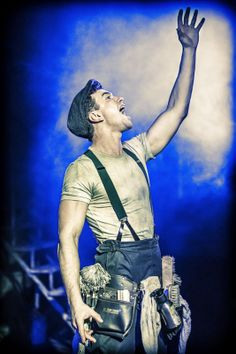 #Urinetown The Musical at #London's St. James Theatre. Richard Fleeshman (Bobby Strong). Photo: Johan Persson ♡ www.LOVEtheatre.com/tickets/3587/URINETOWN-The-Musical?sid=PIN
