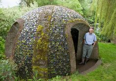 Richard Pim, 73, from Pembridge, Herefordshire, created a stunning grotto from 5,000 wine bottles. He was inspired after enjoying a drink or two in the garden